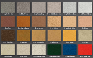 Overlay Integral Colorants Color Chart