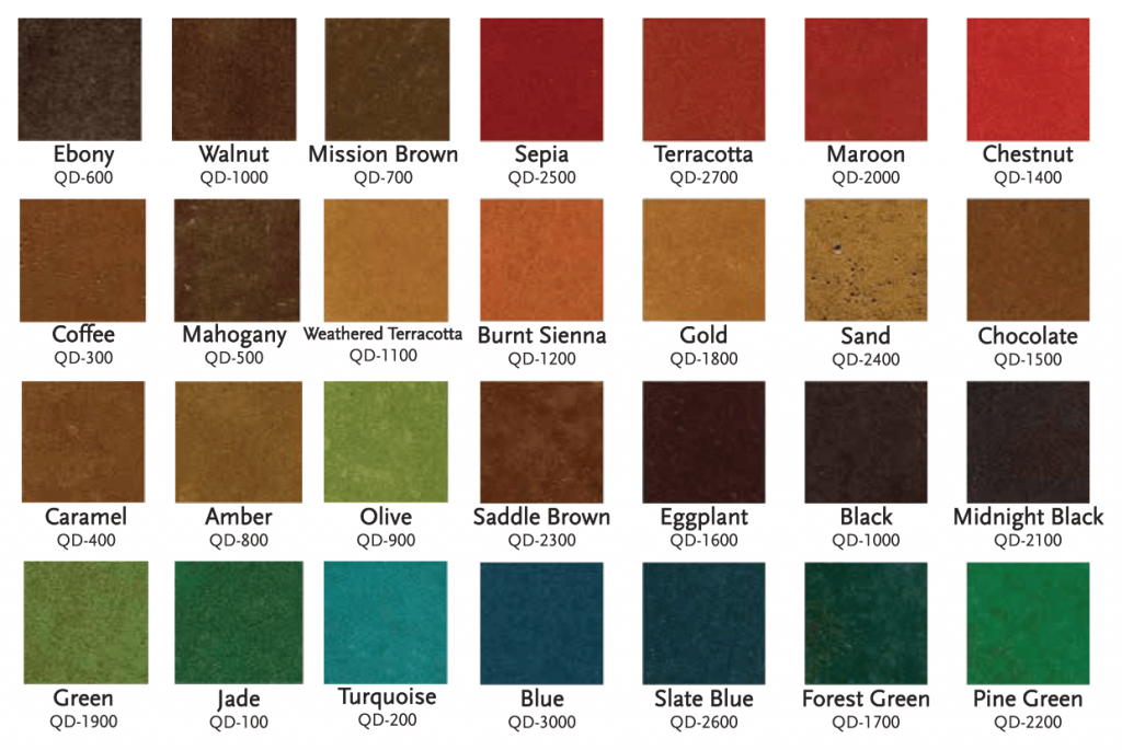 QuickDye™ Color Chart