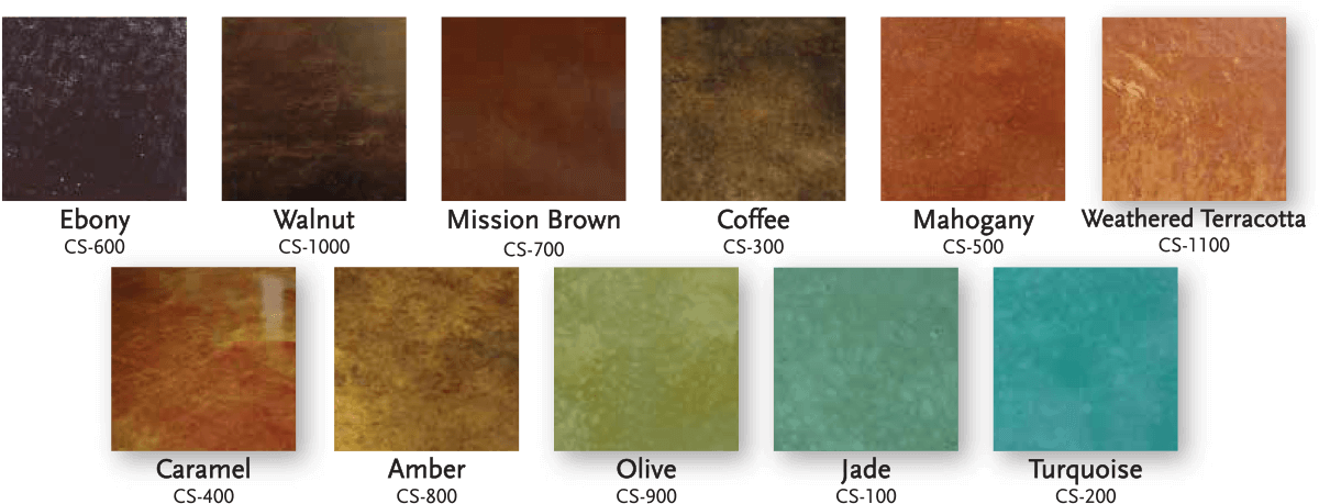 Concretecoatings Acidstaings Colorchart